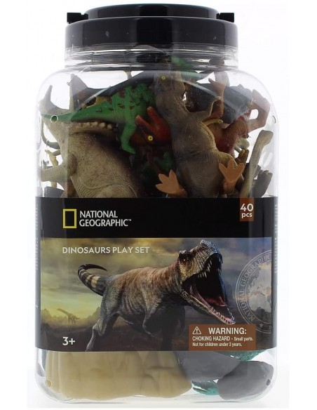 National Geographic Dinosaurs Play Set 40 piezas