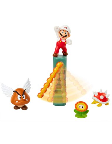 SUPER MARIO SET CASTILLO DE LAVA C/FIG.