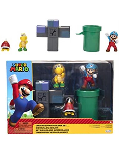 SUPER MARIO SET SUBTERRANEO C/FIG. 6 CM